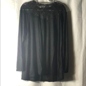 🆕 Torrid Super Soft Black Lace High Neck Tee